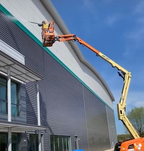 Long pole window cleaning services
